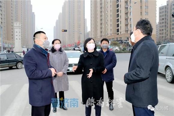 历城区宣传部部长申世平到唐冶街...
