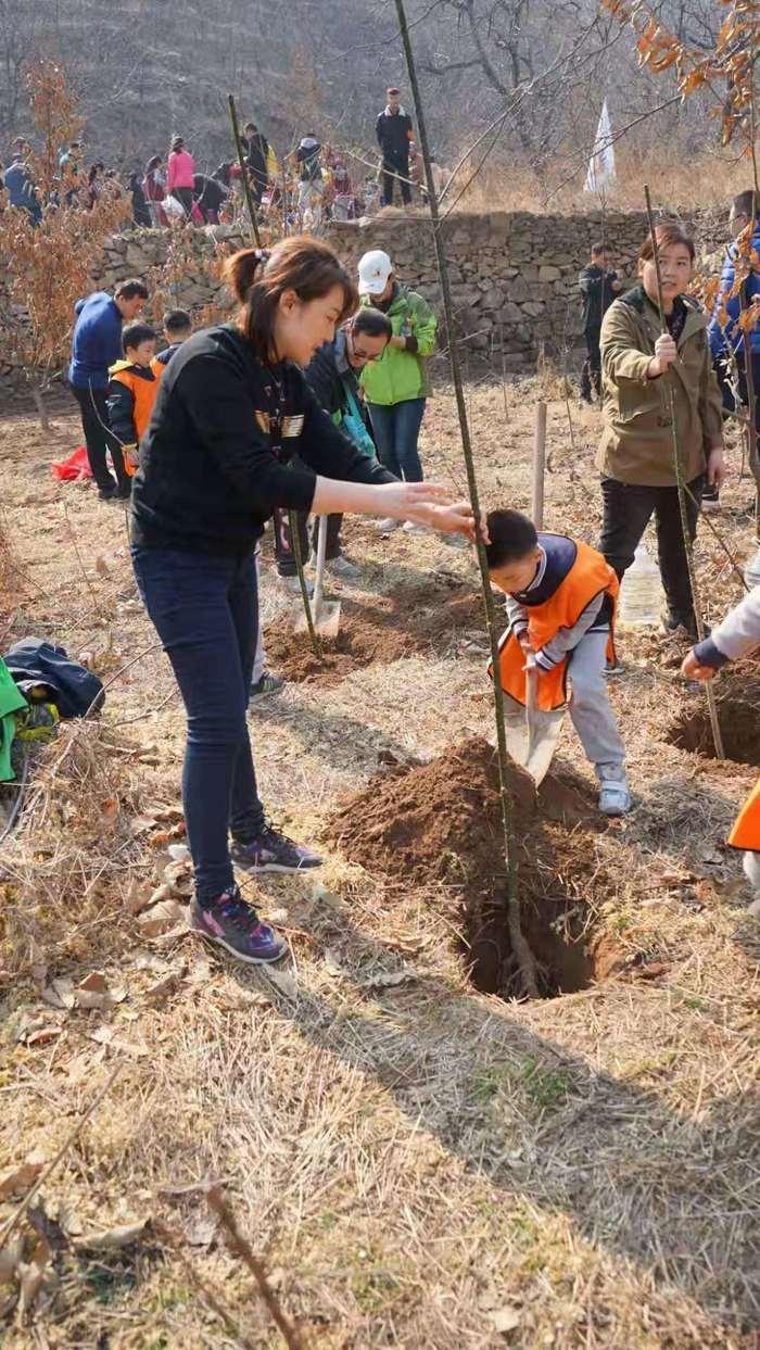 为国添绿 为己聚力——山师附小2018级2班开展植树活动