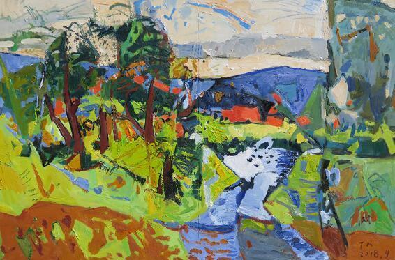 济南艺术学校美术教师绘画作品入选全国油画展