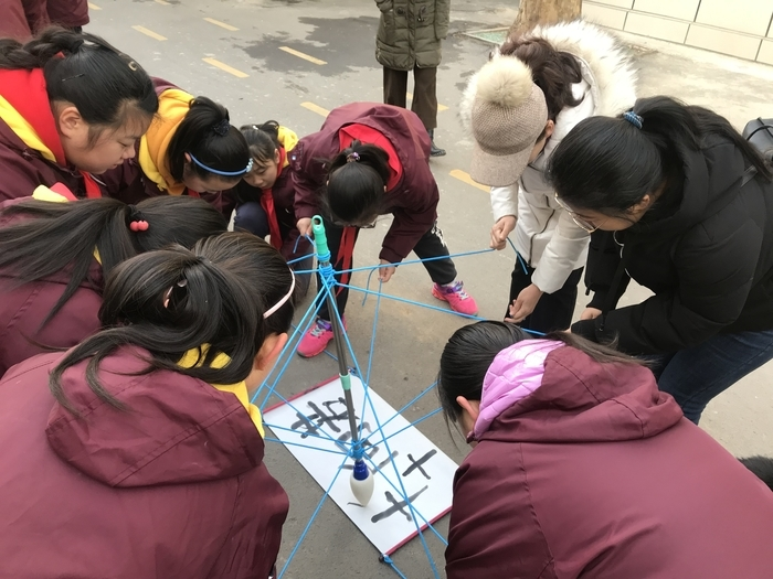"""书法操、汉字魔方、""""神笔马良""""看书法在济南市花园小学的""""大变身"""""""