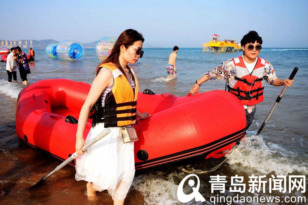 人??氨却蠛?!青岛海岸开启下饺子模式