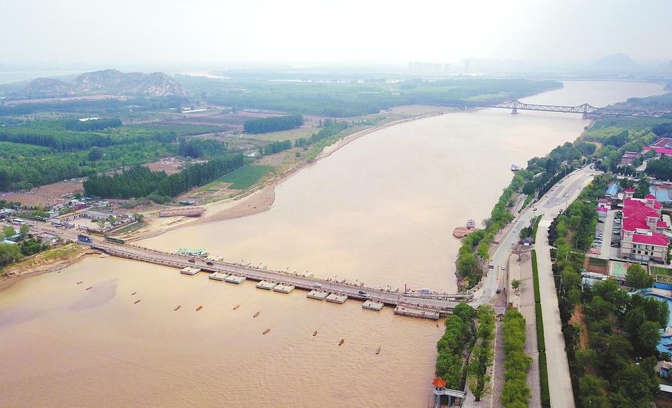 黃河濟南段浮橋開始拆除行洪 目前已經拆除10座