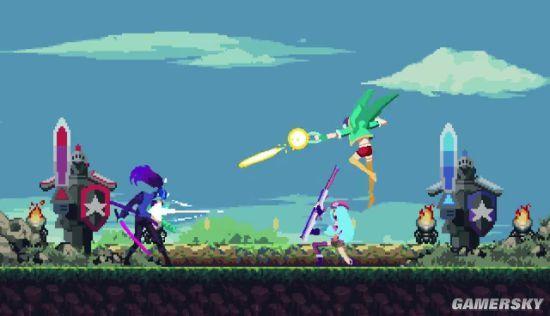 玩家自制《英雄联盟》电玩像素风视频 街机对打卡莎战风男