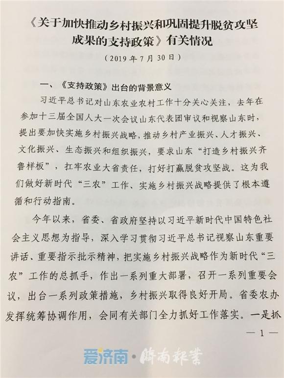 农村集体土地可建租赁住房 山东24条新政推动乡村振兴