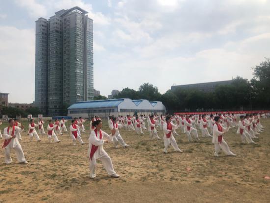 2019全国老年人太极拳健身推广展示大联动活动在济南分会场成功举办