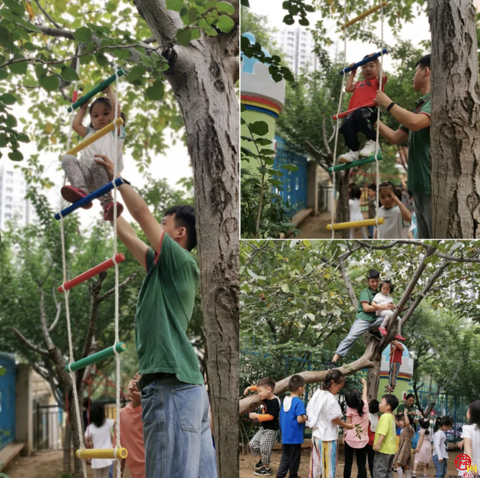 秋季开放日,来童林堡幼儿园挑战各种爬!