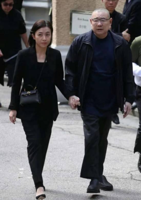 刘銮雄甘比、李家诚徐子淇出席富豪郭炳湘丧礼
