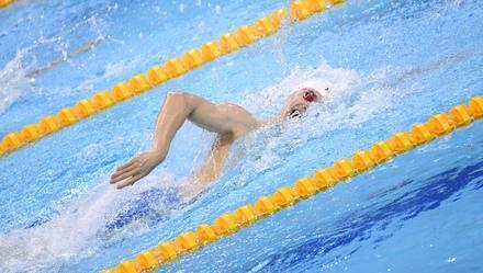 孙杨2020年首秀遭逆转 落后0.03秒错失冠军