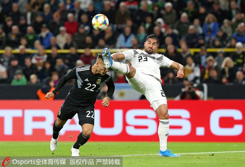 热身赛-梅西缺阵格纳布里破门 德国2-2战平阿根廷