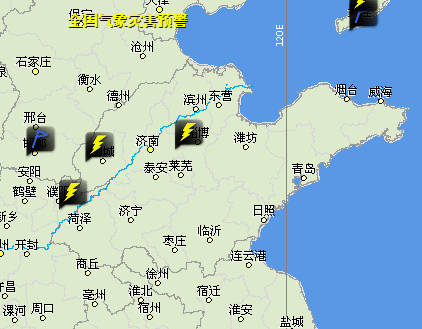 山东继续发布雷电黄色预警 可能会造成雷电灾害事故