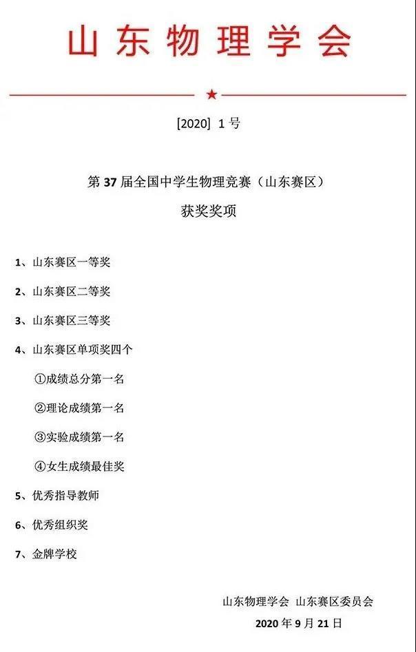 """全省第一!全国物理奥赛山东省队""""集结""""完毕 历城二中8人""""出征"""""""