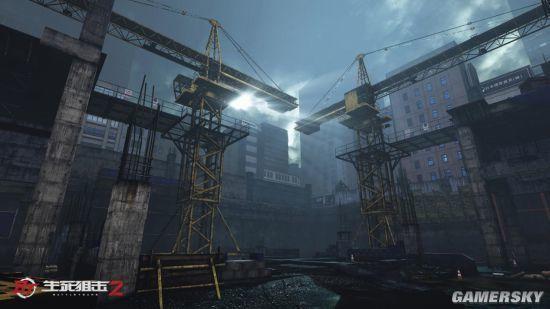 《生死狙击2》工地场景曝光:双塔惊魂夜恐怖升级
