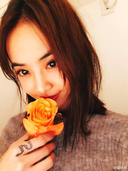 蔡依林簪花甜笑少女感十足 晒玫瑰状甜品提前过情人节