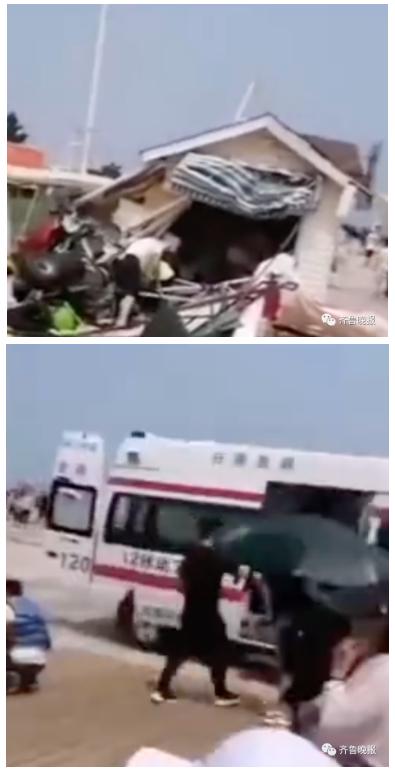 【官方最新通报】突发!日照景区滑翔机坠落致5人受伤 伤员送医救治