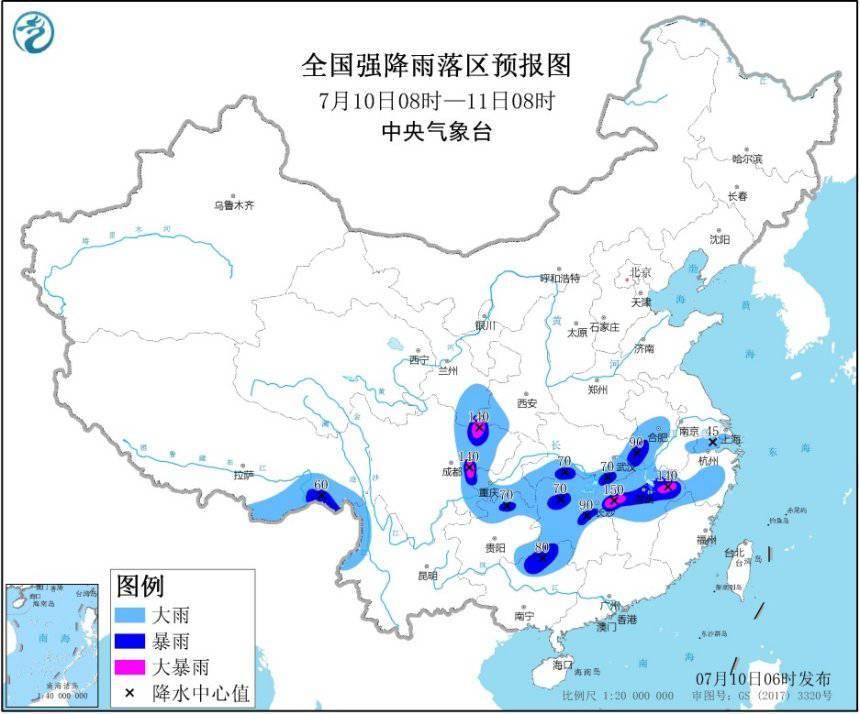 【暴雨黄色预警】13省份局部有大到暴雨 防御指南请查收