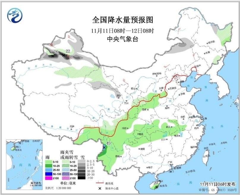 冷空气发威西北东北雪纷纷 冬季前沿或推进到黄河下游