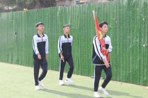 争做文明学生 维护校园文明——济南传媒学校举行文明校园升旗仪式