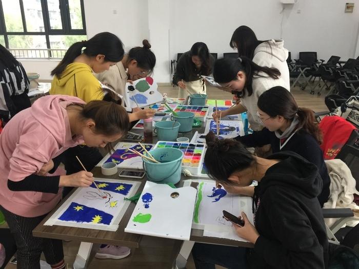 历下区第一实验幼教集团开展美术培训