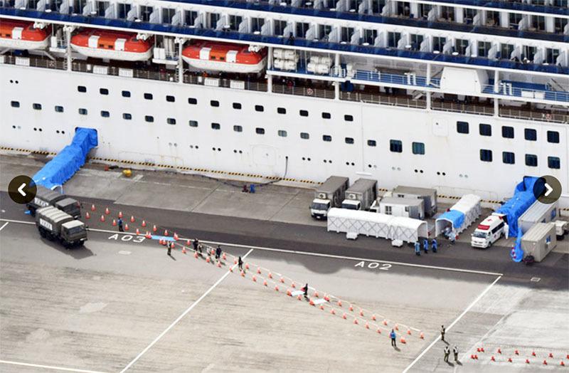 """""""钻石公主""""号下船搭客中漏检23人 日本厚生劳动大臣致歉"""