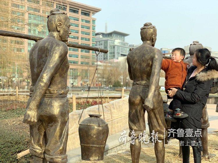 省级非遗新雕塑亮相济南泉城广场