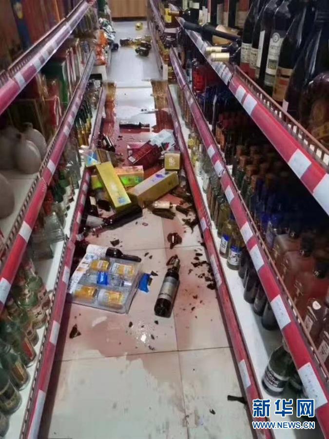 新疆伽师县6.4级地震后余震不断 震中有人员受伤