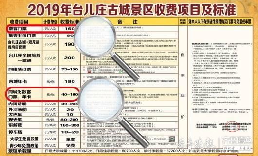 """台儿庄古城门票""""因人而异""""?徐州人只要40元济南人要160元"""