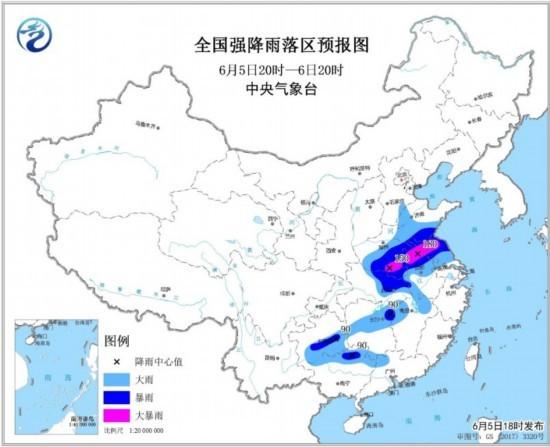 黄淮江淮等地有大到暴雨 黄海等地有大风天气