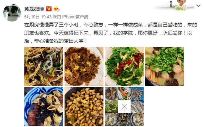 黄磊已从北电辞职 姚晨海清黄海波都是他学生