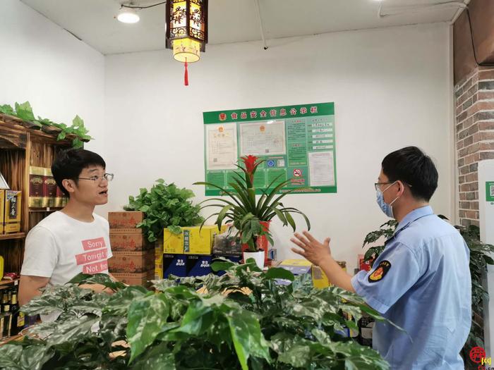 高新区空港市场监管所积极做好国家食品安全示范城市复审迎查工作