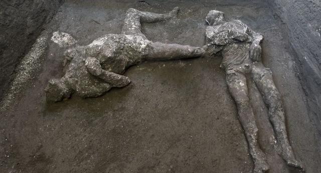 2000年前死于火山喷发遗骸在庞贝古城被发现