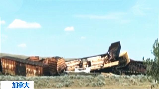 加拿大一列车脱轨致大量化学物质泄露 居民被强制疏散