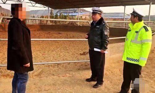 """潍坊""""骑马上学""""父子被交警约谈:公路不是跑马场"""