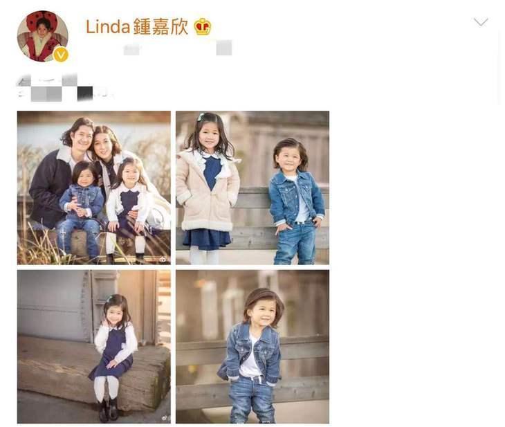 前TVB花旦钟嘉欣晒近况 混血儿女颜值高超会长