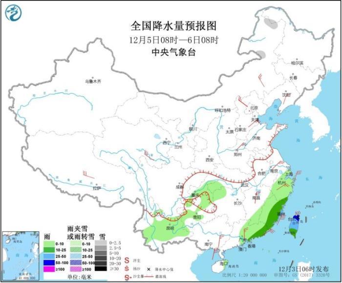 冷空气致东北江南等地降温4~8℃ 南部海区有大风