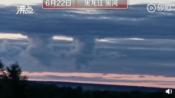 【奇景】黑龙江黑河上空现拱桥云 网友:这是南天门出现了吗?