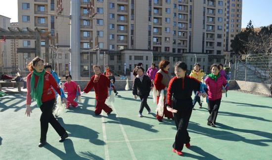 弘扬太极文化 七里山街道泉景社区太极木兰拳班顺利开班